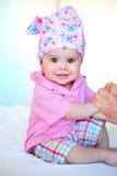 Sentada del bebé Fotografía de archivo
