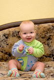 Sentada del bebé fotografía de archivo libre de regalías
