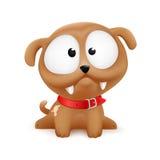 Sentada del carácter del vector del perrito Imagen de archivo libre de regalías