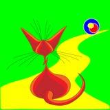 Sentada del gato Fotografía de archivo libre de regalías