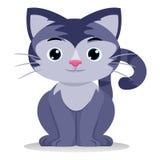 Sentada del gato Foto de archivo libre de regalías