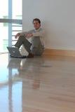 Sentada del hombre de negocios Fotos de archivo