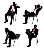 Sentada del hombre de negocios Imágenes de archivo libres de regalías