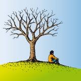 Sentada del hombre (vector) ilustración del vector