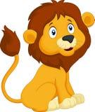Sentada del león de la historieta ilustración del vector