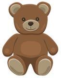 Sentada del oso de peluche Fotografía de archivo