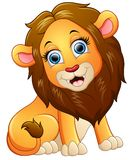 Sentada feliz de la historieta del león libre illustration