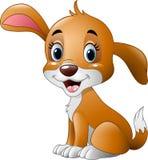 Sentada linda del pequeño perro ilustración del vector