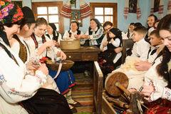 Sentada tradicional de la tarde Fotografía de archivo libre de regalías