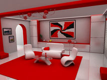 Sentar-quarto Foto de Stock Royalty Free