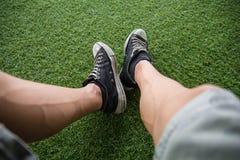 Sente-se e relaxe-se no jardim Fotografia de Stock