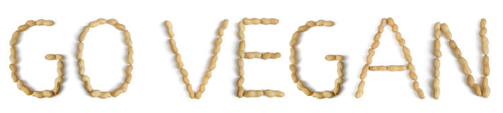 Sentence with Letters Made of Peanuts Stock Images