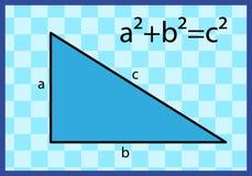 Sentence of Pythagoras. Representation of the sentence of Pythagoras illustration Royalty Free Stock Images
