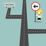 Sentido ao sucesso version2 ilustração do vetor