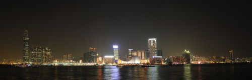 Sentido de Hong Kong Victoria Harbor Night imagenes de archivo