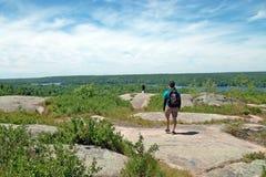 Sentier de randonnée de Dunder de roche, Lyndhurst, Ontario, Canada photographie stock