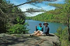 Sentier de randonnée de Dunder de roche, Lyndhurst, Ontario, Canada photos libres de droits