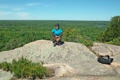 Sentier de randonnée de Dunder de roche, Lyndhurst, Ontario, Canada photographie stock libre de droits