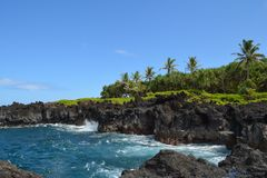 Sentier de randonnée de Maui de littoral d'Hawaï photo stock