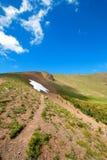 Sentier de randonnée sur la colline/Ridge d'ouragan en parc national olympique dans l'état de Washington Etats-Unis Image libre de droits