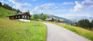 Sentier de randonnée Vorarlberg, montafon photo stock