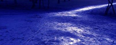 Sentier piéton bleu Photos libres de droits