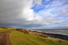 Sentier piéton de Coastla dans le Northumberland photos libres de droits