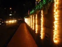 Sentier piéton de Diwali Image libre de droits