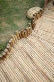 Sentier piéton en bambou Images libres de droits