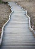 Sentier piéton en bois images stock