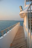 Sentier piéton sur un bateau Photographie stock libre de droits