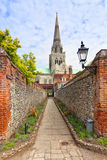Sentier piéton vers Chichester Catedral Photo stock