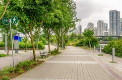 Sentier piéton public à Vancouver du centre Images libres de droits