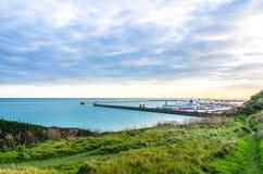 Sentieri per pedoni della campagna verso il porto di Dover in Risonanza, Inghilterra Fotografia Stock Libera da Diritti