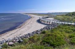 Sentiero costiero ad un Eco-centro, Nuovo Brunswick, Canada Immagini Stock