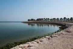 Sentiero costiero in Al Khobar, Arabia Saudita Fotografie Stock Libere da Diritti