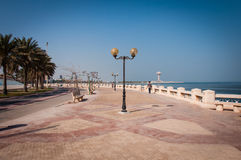 Sentiero costiero in Al Khobar, Arabia Saudita immagine stock