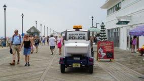 Sentiero costiero alla spiaggia al parco di Asbury nel New Jersey Immagine Stock Libera da Diritti