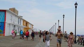 Sentiero costiero alla spiaggia al parco di Asbury nel New Jersey Fotografia Stock