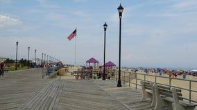Sentiero costiero alla spiaggia al parco di Asbury nel New Jersey Fotografia Stock Libera da Diritti
