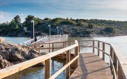 Sentiero costiero attraverso il lago Immagini Stock Libere da Diritti