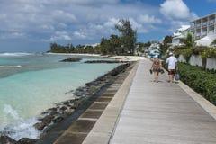 Sentiero costiero Camelot Barbados Immagine Stock