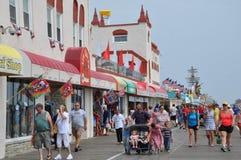 Sentiero costiero della città dell'oceano nel New Jersey Fotografia Stock