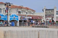 Sentiero costiero della città dell'oceano nel New Jersey Fotografia Stock Libera da Diritti