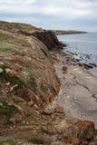 Sentiero costiero della spiaggia della baia di Hallett fotografie stock