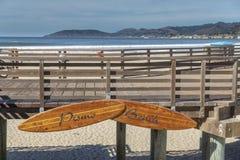 Sentiero costiero della spiaggia di Pismo fotografia stock