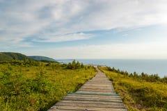 Sentiero costiero della traccia dell'orizzonte Immagine Stock