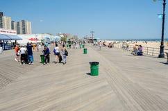 Sentiero costiero di legno in Coney Island, NY Fotografia Stock Libera da Diritti