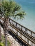 Sentiero costiero di riva dell'oceano Fotografia Stock