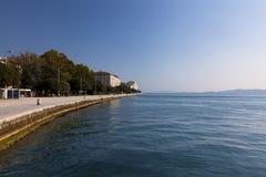Sentiero costiero di Zadar Fotografia Stock Libera da Diritti